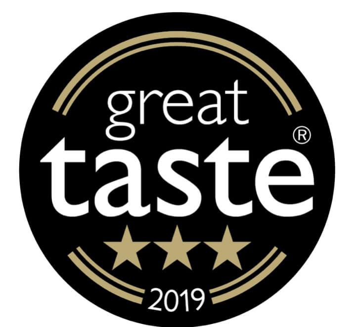 Great Taste Award 2019 3 star award